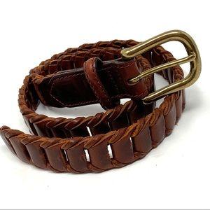 Genuine Brown Leather Ladder Belt